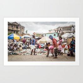 Kids in Antananarivo Art Print