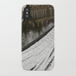 First snow in front of my house iPhone Case