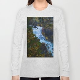 White Falls along the Berg Lake Trail in BC Long Sleeve T-shirt