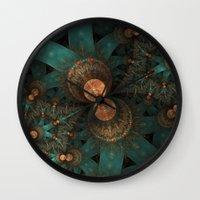 battlestar galactica Wall Clocks featuring galactica by Ancello