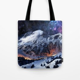 Mountain CALM IN space view Tote Bag