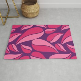 Deep shades of purple on natural ornament. Rug