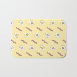 Eggs and Bacon Breakfast Foodie Funny Pattern Bath Mat
