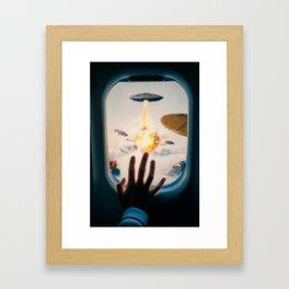 Alien Attack by GEN Z Framed Art Print