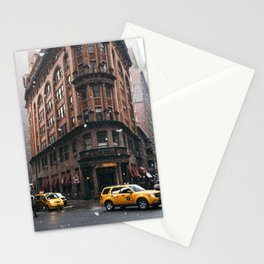 Snow showers in Financial District Stationery Cards