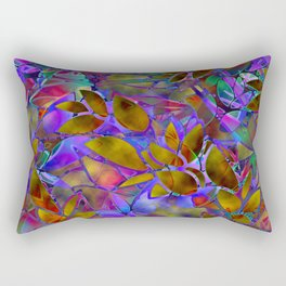Floral Abstract Stained Glass G129 Rectangular Pillow