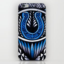 Colts Poly Style iPhone Skin
