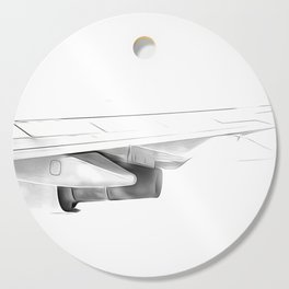Black and white airplane Cutting Board