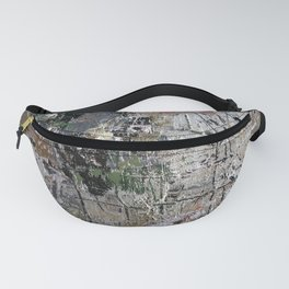 Abstract silver grunge background Fanny Pack
