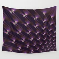 shining Wall Tapestries featuring Shining fractal. by Assiyam