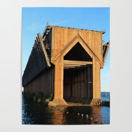 Abandoned Ore Dock at Sunset Poster