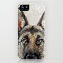 German Shepard Dog illustration original painting print iPhone Case