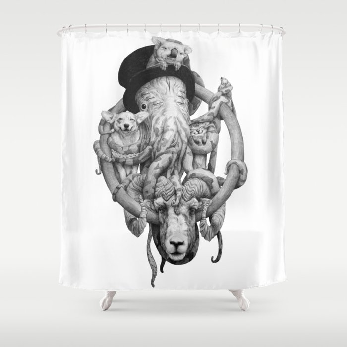 Cthulhu And Friends Shower Curtain
