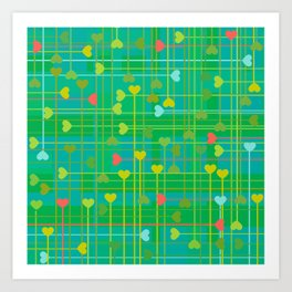 corazones van III Art Print