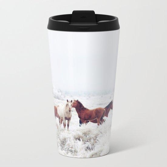 Winter Horseland Metal Travel Mug