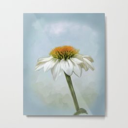 Fresh Cone Flower Metal Print