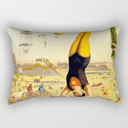 The Great Coney Island Water Carnival – Barnum & Bailey Circus Poster Rectangular Pillow