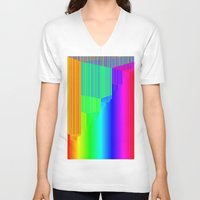 pivot V-neck T-shirts featuring R Experiment 4 (quicksort v2) by X's gallery