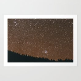 At Night. Art Print