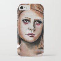 tenenbaum iPhone & iPod Cases featuring Margot Tenenbaum  by Bella Harris