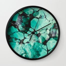 Turquoise  Wall Clock