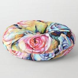 For Love of Roses Floor Pillow