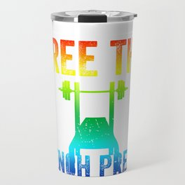 Free The Bench Press Warm Color Travel Mug
