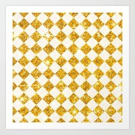 gold checkers Art Print
