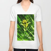 tropical V-neck T-shirts featuring Tropical by cafelab
