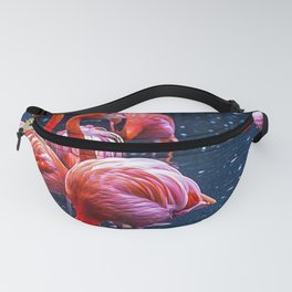 Pink flamingos in a pond Fanny Pack