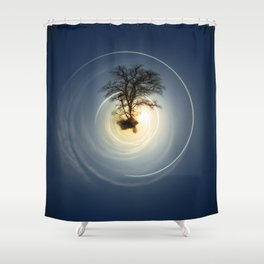 Tiny Planet 5 - The Last Lampost Shower Curtain