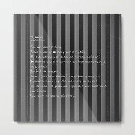 blackframe/18 seconds Metal Print