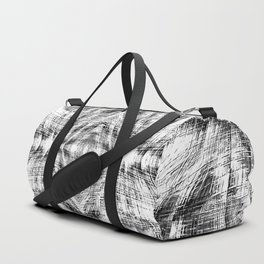 geometric symmetry pattern abstract background in black and white Duffle Bag