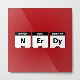 Nerdy Periodic Table Metal Print