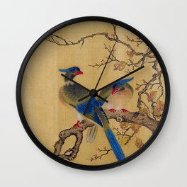 Birds on Branches square Wall Clock