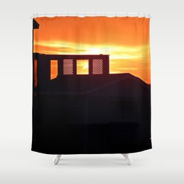 Silhouettes at Sunset Shower Curtain