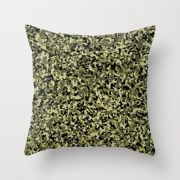 Classic Camouflage Green and Black Throw Pillow