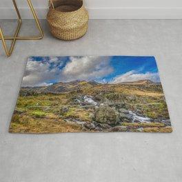 Mountain Footbridge Wales Rug