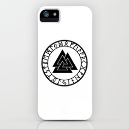 Norse - Valknut II iPhone Case