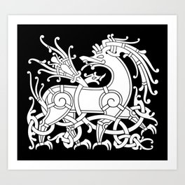 Ringerike Style Ornament IV Art Print