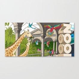 St. Louis Zoo Giraffes Canvas Print