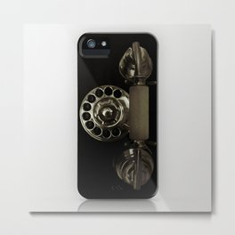 Old rotary dial phone Metal Print
