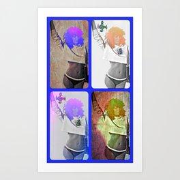 collage time Art Print