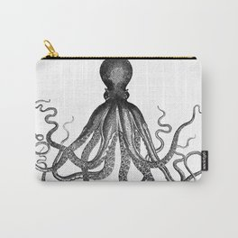 Antique Nautical Steampunk Octopus Vintage Victorian Kraken sea monster emo goth drawing Carry-All Pouch