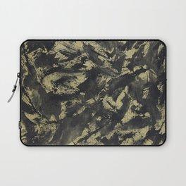 Black Ink on Gold Background Laptop Sleeve