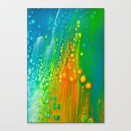Aqua orange Canvas Print