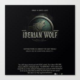 Iberian Wolf Canvas Print