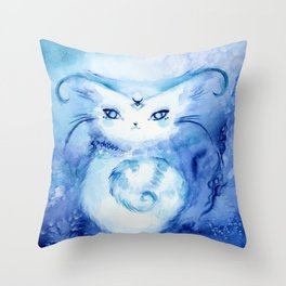 Serena Cat : Peace Throw Pillow