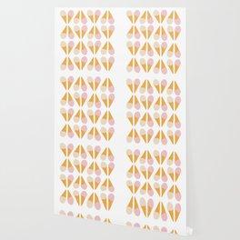 Ice Cream Cone Print Wallpaper