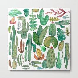 Nature Watercolor Metal Print